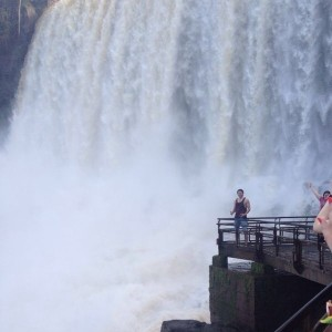 Massive waterfall on the Argentinean side