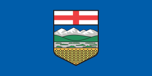 The province of Alberta's official flag.